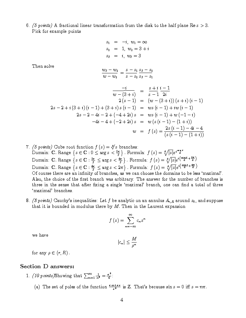 Solutions to the Final page 4